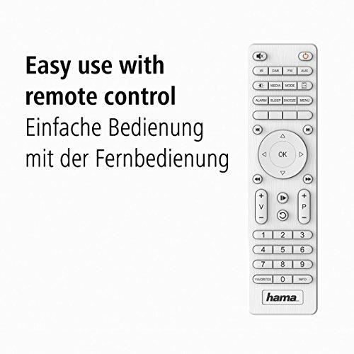 Hama Internetradio IR111MS (WLAN/LAN, Fernbedienung, USB-Anschluss mit Lade- und Wiedergabefunktion, Weck- und Wifi-Streamingfunktion, Multiroom, gratis Radio App) weiß - 8