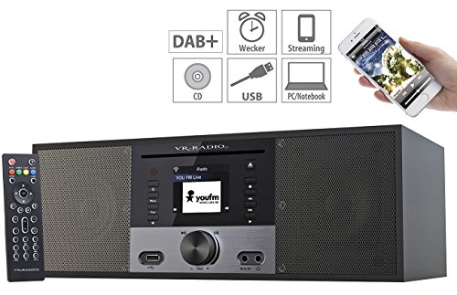 VR-Radio Stereoanlage: Stereo-Internetradio m. CD-Player, DAB+/FM, Farbdisplay, Wecker, 32 W (Internetradios) - 7
