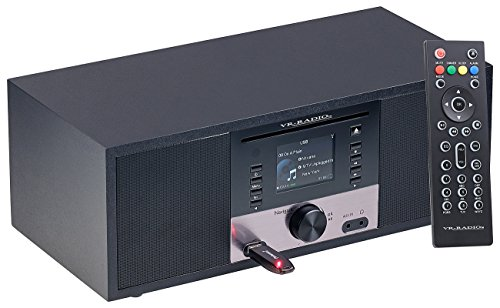 VR-Radio Stereoanlage: Stereo-Internetradio m. CD-Player, DAB+/FM, Farbdisplay, Wecker, 32 W (Internetradios) - 3