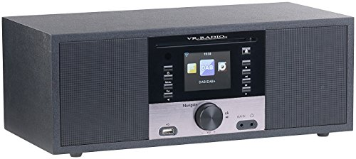 VR-Radio Stereoanlage: Stereo-Internetradio m. CD-Player, DAB+/FM, Farbdisplay, Wecker, 32 W (Internetradios) - 4