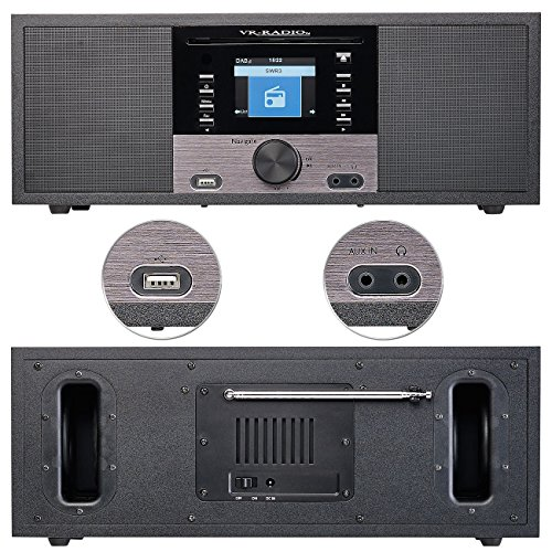 VR-Radio Stereoanlage: Stereo-Internetradio m. CD-Player, DAB+/FM, Farbdisplay, Wecker, 32 W (Internetradios) - 5
