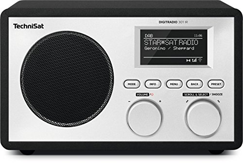 TechniSat DIGITRADIO 301 IR Digital-Radio mit WLAN, Internet-Radio, DAB+, UKW, UPnP-Audio-Streaming, Wecker und Snooze-Funktion, Schwarz