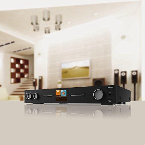 Hama HiFi-Tuner Internetradio und Digitalradio DIT2010MBT (WLAN/LAN/DAB+/DAB/FM, 2,8 Zoll Farbdisplay, Fernbedienung, USB-Anschluss, Sleep-Timer, Weck-Funktion, gratis Radio App) schwarz - 7