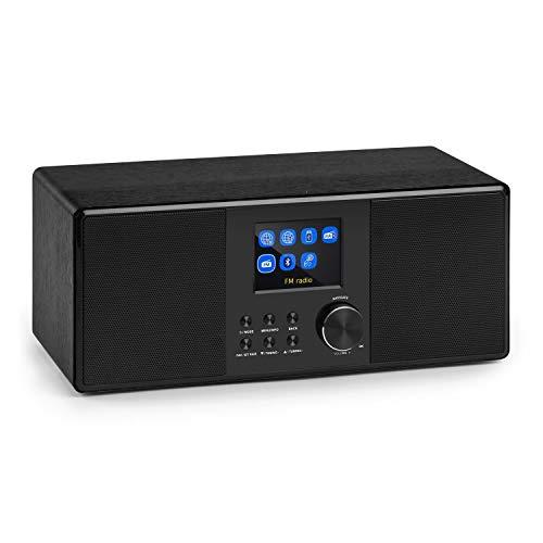 auna Connect 120 BK • Internetradio • Digitalradio • WLAN-Radio • Netzwerkplayer • DAB/DAB+/UKW-Tuner mit RDS • Bluetooth • USB • MP3 • Aux • Sleep-Timer • Farbdisplay • Uhrzeitanzeige • Schwarz