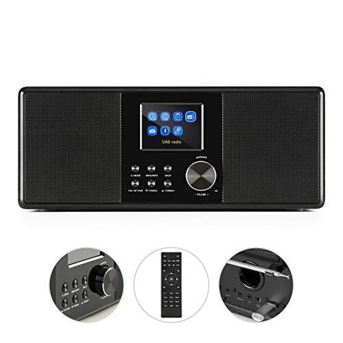 auna Connect 120 BK • Internetradio • Digitalradio • WLAN-Radio • Netzwerkplayer • DAB/DAB+/UKW-Tuner mit RDS • Bluetooth • USB • MP3 • Aux • Sleep-Timer • Farbdisplay • Uhrzeitanzeige • Schwarz - 2