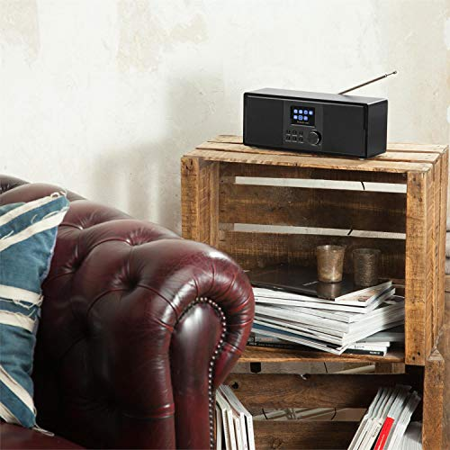 auna Connect 120 BK • Internetradio • Digitalradio • WLAN-Radio • Netzwerkplayer • DAB/DAB+/UKW-Tuner mit RDS • Bluetooth • USB • MP3 • Aux • Sleep-Timer • Farbdisplay • Uhrzeitanzeige • Schwarz - 4
