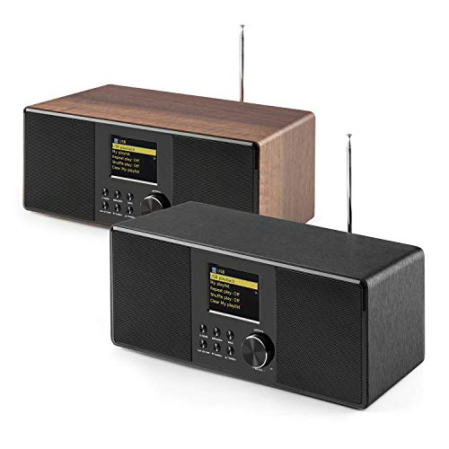 auna Connect 120 BK • Internetradio • Digitalradio • WLAN-Radio • Netzwerkplayer • DAB/DAB+/UKW-Tuner mit RDS • Bluetooth • USB • MP3 • Aux • Sleep-Timer • Farbdisplay • Uhrzeitanzeige • Schwarz - 3