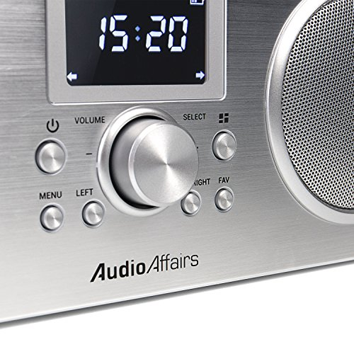AudioAffairs Internetradio | DAB, Digitalradio mit Wecker & Akku | WLAN Küchenradio | Badradio | UKW-Tuner | Miniradio mit Akku | Uhrenradio – Nur erhältlich auf Amazon.de - 3