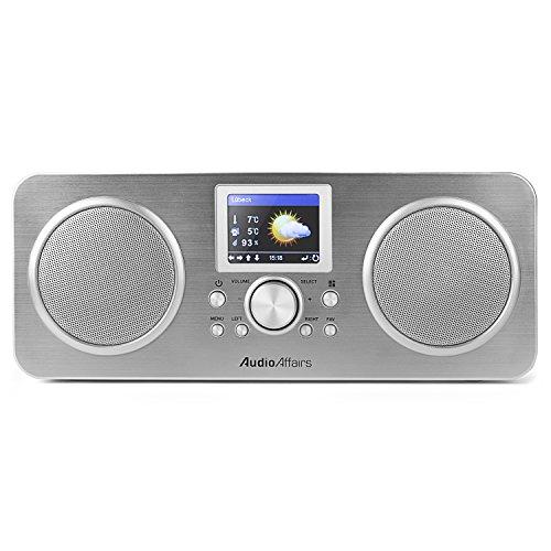 AudioAffairs Internetradio | DAB, Digitalradio mit Wecker & Akku | WLAN Küchenradio | Badradio | UKW-Tuner | Miniradio mit Akku | Uhrenradio – Nur erhältlich auf Amazon.de - 4