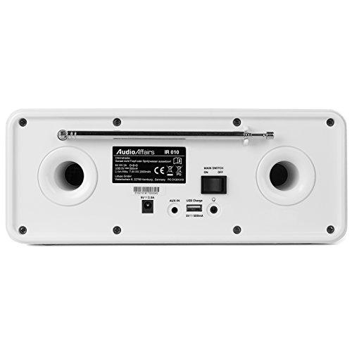 AudioAffairs Internetradio | DAB, Digitalradio mit Wecker & Akku | WLAN Küchenradio | Badradio | UKW-Tuner | Miniradio mit Akku | Uhrenradio – Nur erhältlich auf Amazon.de - 2