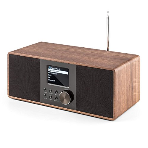 auna Connect 120 WN  Internetradio  Digitalradio  WLAN-Radio  Netzwerkplayer  DAB / DAB+ / UKW-Tuner mit RDS  Bluetooth  MP3-USB-Port  AUX-Eingang  Wecker  Sleep-Timer  TFT-Farbdisplay  Dimmfunktion  Uhrzeitanzeige  Holzfurnier  walnuss - 5