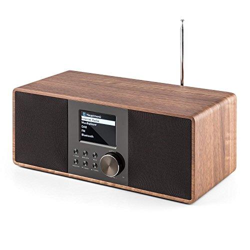 auna Connect 120 WN  Internetradio  Digitalradio  WLAN-Radio  Netzwerkplayer  DAB / DAB+ / UKW-Tuner mit RDS  Bluetooth  MP3-USB-Port  AUX-Eingang  Wecker  Sleep-Timer  TFT-Farbdisplay  Dimmfunktion  Uhrzeitanzeige  Holzfurnier  walnuss - 5