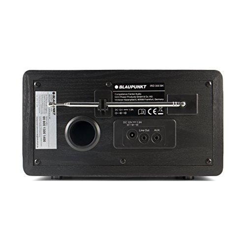 Blaupunkt IRD 300 WLAN Internet Radio, DAB+, Bluetooth, UKW-Empfang, Küchen- Oder Büroradio, Radiowecker und Uhrenradio, Farb-Display mit App-Funktion, Miniradio inkl. Fernbedienung, Schwarz - 6