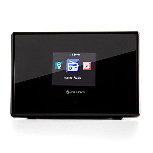 auna  iAdapt 240  Internetradio-Adapter  Erweiterung  für Stereoanlagen, HiFi- und Surround-Systeme  WLAN  2,4″TFT-Farbdisplay  RDS-Funktion  Uhrzeitanzeige  Wecker  Sleep-Timer  3,5 mm Klinke  250 Speicherplätze  Fernbedienung  schwarz - 2
