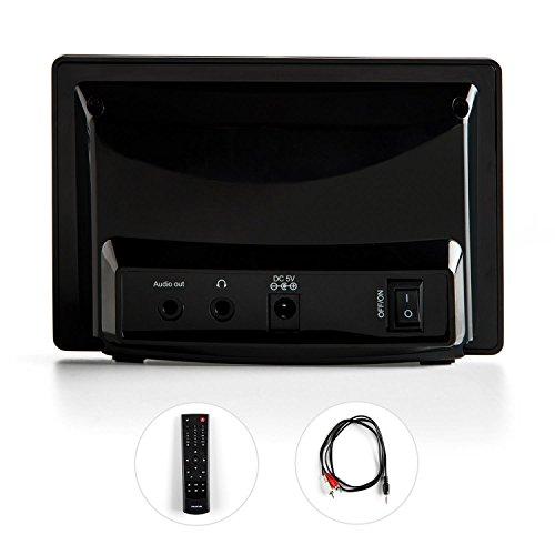 auna  iAdapt 240  Internetradio-Adapter  Erweiterung  für Stereoanlagen, HiFi- und Surround-Systeme  WLAN  2,4″TFT-Farbdisplay  RDS-Funktion  Uhrzeitanzeige  Wecker  Sleep-Timer  3,5 mm Klinke  250 Speicherplätze  Fernbedienung  schwarz - 3