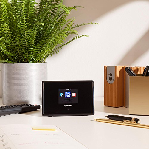 auna  iAdapt 240  Internetradio-Adapter  Erweiterung  für Stereoanlagen, HiFi- und Surround-Systeme  WLAN  2,4″TFT-Farbdisplay  RDS-Funktion  Uhrzeitanzeige  Wecker  Sleep-Timer  3,5 mm Klinke  250 Speicherplätze  Fernbedienung  schwarz - 5