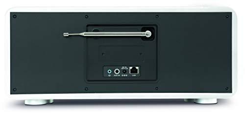 TechniSat Digitradio 600 Internetradio (Spotify, WLAN, LAN, DAB+, DAB, UKW, CD-Player, Bluetooth, Radiowecker, Wifi-Streamingfunktion, Multiroom, 2 x 20 Watt Lautsprecher, 30 Watt Subwoofer) weiß - 5
